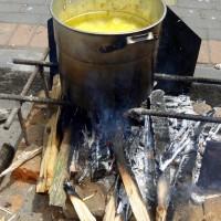 Cocinando con leña